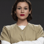 Lorna Morello - In jail for stalking, she's a little bit crazy and remarkably upbeat for someone in prison.
