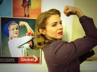 Ali Liebert as Betty on Bomb Girls