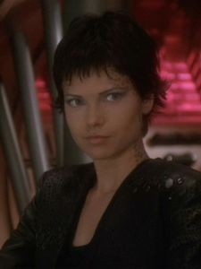 Ezri Tigan - A mirror universe version of Ezri Dax, who never merged with the Dax symbiote. While most Trill are pansexuals, this one is a lesbian.