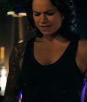 Wilma - A bartender who hits on Riley when she comes to return evidence from a case. She thanks Riley in a very personal way. If you know what I mean.