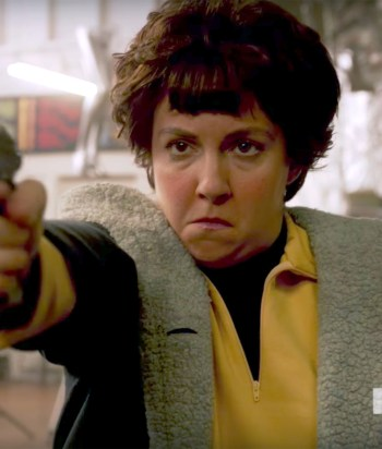 A picture of the character Valerie Solanas
