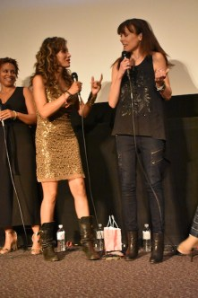 Marem Hassler and Liz Vassey at Outfest