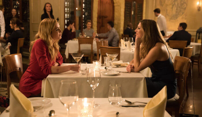 """DC's Legends of Tomorrow -- """"The Curse of the Earth Totem"""" -- Image Number: LGN312a_0124b.jpg -- Pictured (L-R): Caity Lotz as Sara Lance/White Canary and Jes Macallan as Ava Sharpe -- Photo: Jack Rowand/The CW -- © 2018 The CW Network, LLC. All Rights Reserved."""