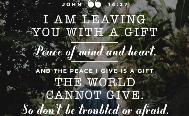 Verse Of The Day John 14 27 Lf Radio
