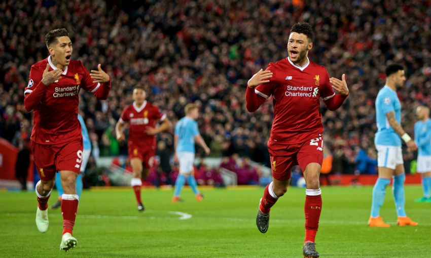 Alex Oxlade-Chamberlain praises fans for 'horrible' Anfield atmosphere