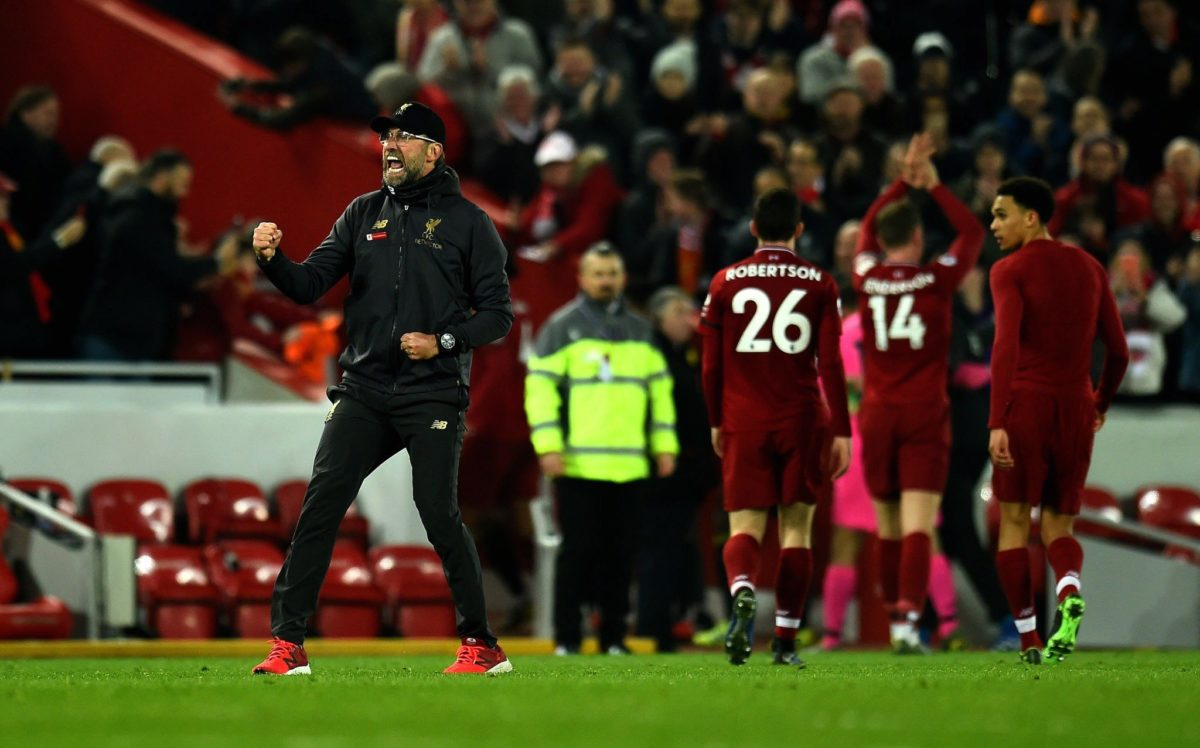 Jurgen Klopp on traditions at Liverpool, 'This is Anfield' sign & sitting in the Kop