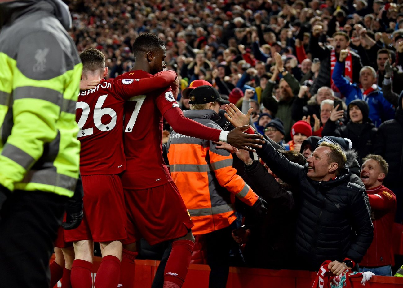 The best photos from Anfield as Liverpool earn Merseyside derby bragging rights