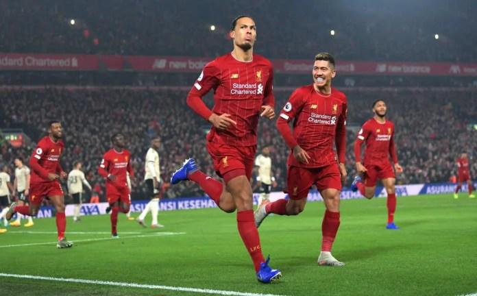 Virgil van Dijk Celebration vs Man United