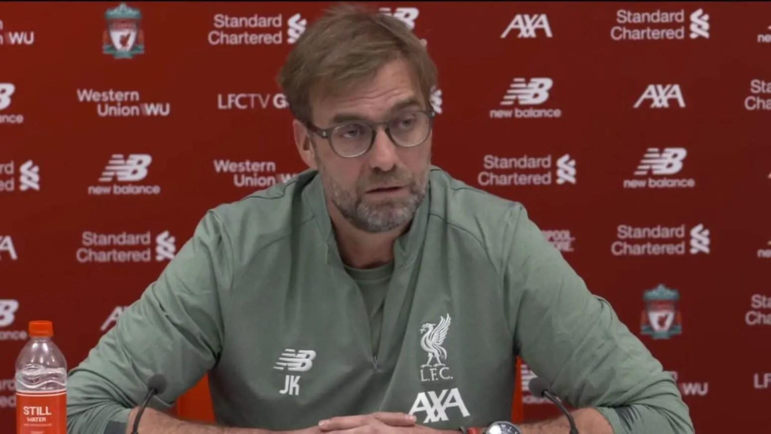 Watch: Jurgen Klopp's pre-match presser – West Ham vs Liverpool
