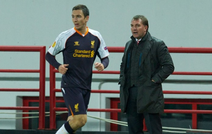 Stewart Downing and Brendan Rodgers