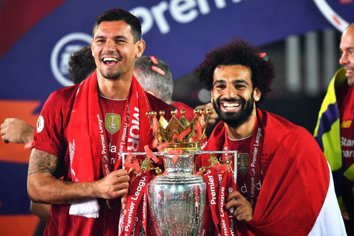 Dejan Lovren and Mohamed Salah