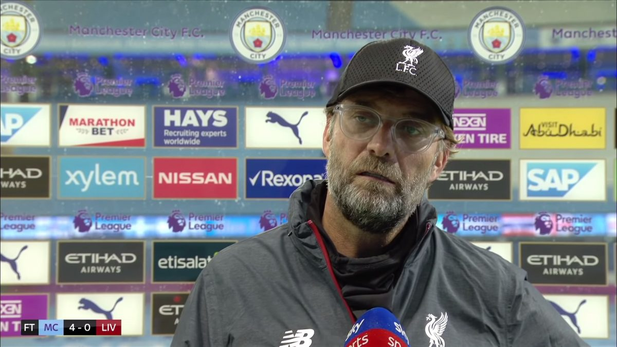 Jurgen Klopp unhappy with questions over Liverpool's attitude after Man City defeat