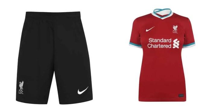 Liverpool 2020-21 Goalkeper Home Shorts & Women Home Shirt