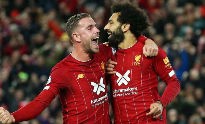 Mohamed Salah and Jordan Henderson