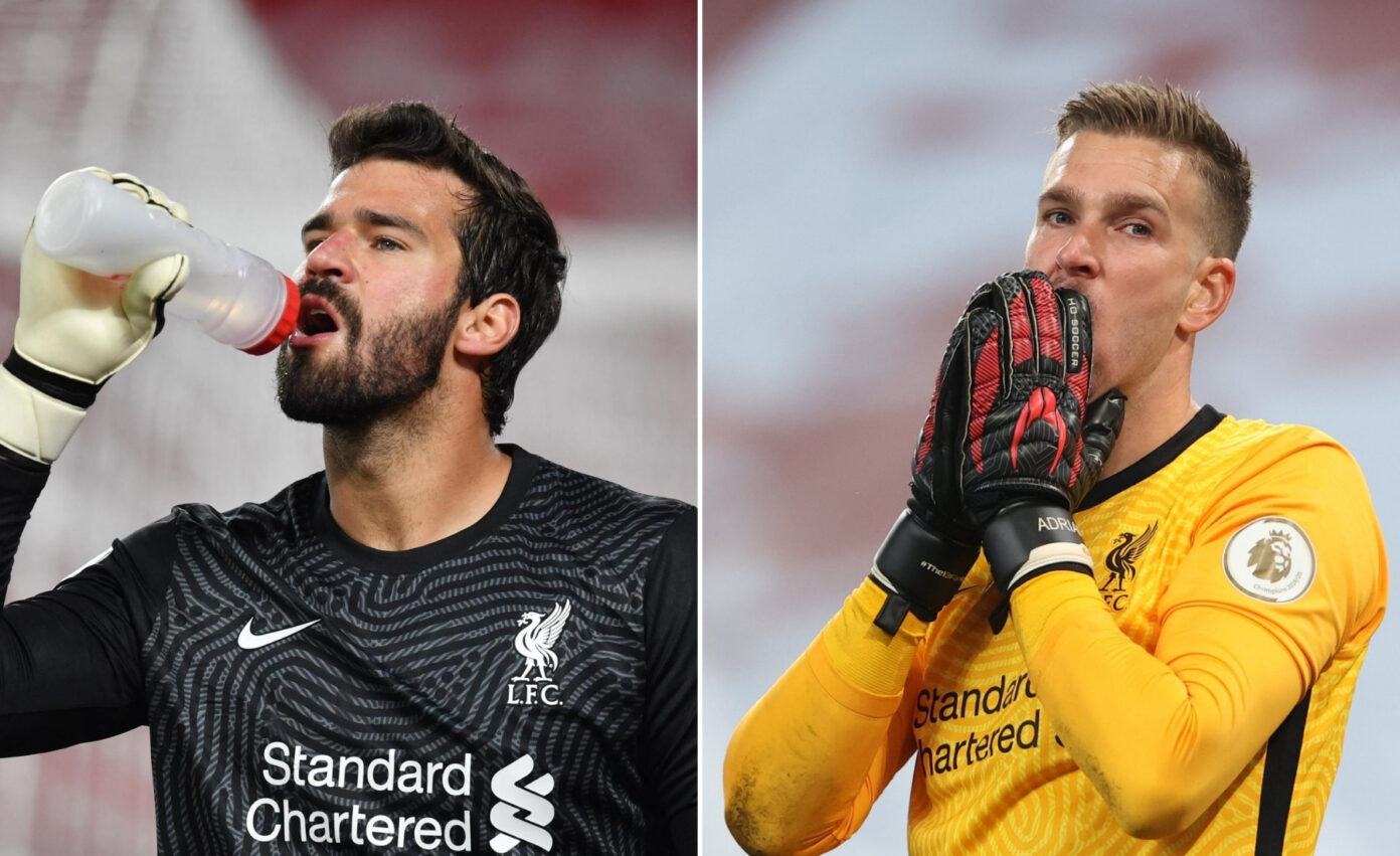 Alisson set to miss up to seven games as Klopp defends Adrian from criticism