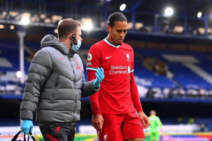 Everton vs Liverpool - Virgil van Dijk Injury