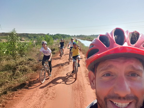 Adam, sports teacher, took some high school students for two days of bike trip