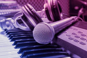 microphone-background-light