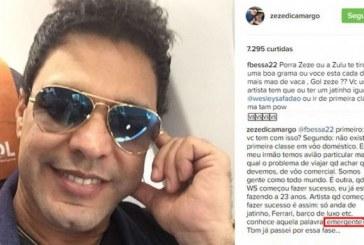 Zezé Di Camargo dispara contra Wesley Safadão: é emergente