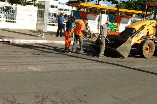 Avenida Luiz Tarquínio recebe operação tapa – buraco