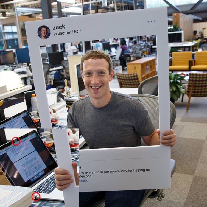Mark Zuckerberg bloqueia hackers com um pedaço de fita adesiva
