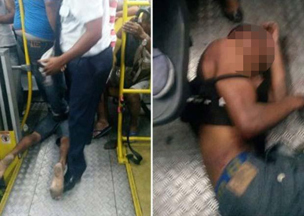 Homem é espancado após tentar roubar ônibus