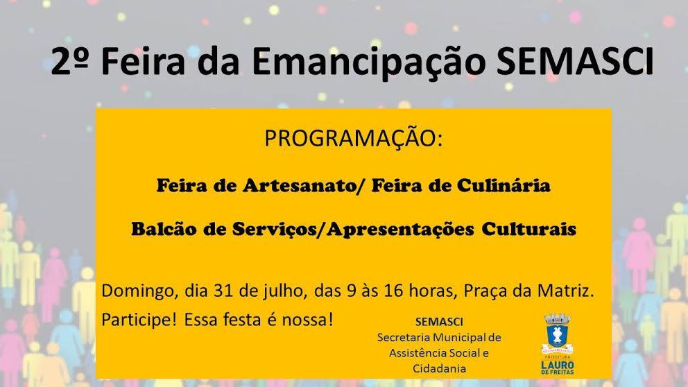 Semasci realiza ação em Festa de Emancipação de Lauro de Freitas