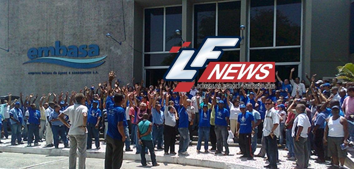 Trabalhadores da Embasa em greve nesta terça