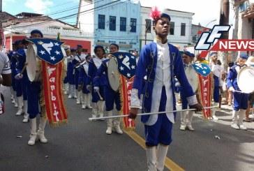 Fanfarras de 19 escolas foram destaque no desfile do 2 de Julho