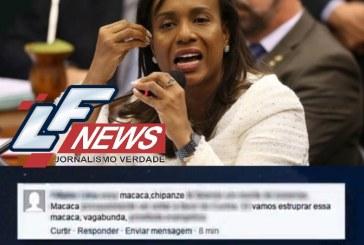 """Deputada baiana é chamada de """"macaca"""" e ameaçada de estupro no Facebook"""