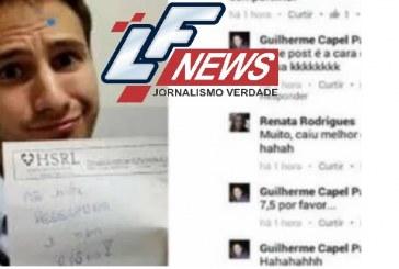 Médico posta foto zombando de paciente na internet: 'Não existe peleumonia'