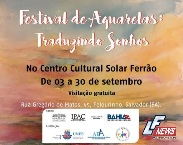 """Exposição """"Festival de Aquarelas: Traduzindo Sonhos"""" entra em cartaz"""