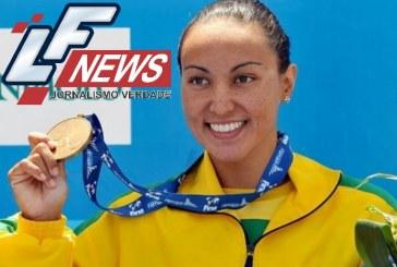Poliana ganha bronze na maratona aquática; 1ª medalha de uma nadadora do Brasil