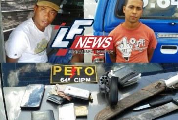 PM prende dois ladrões após roubar Corolla na BR 324