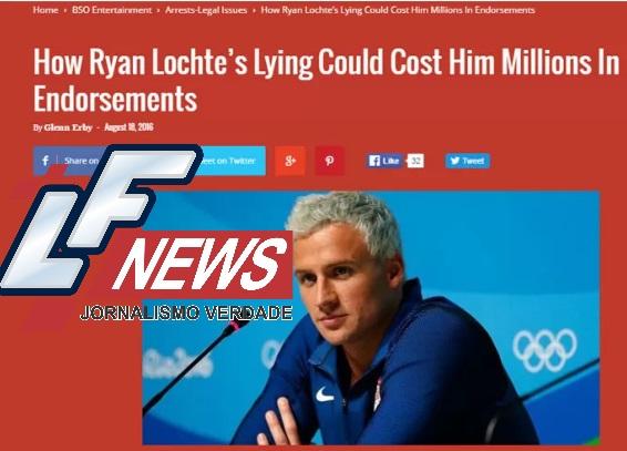 Lochte pode perder 32 milhões de reais em acordos publicitários