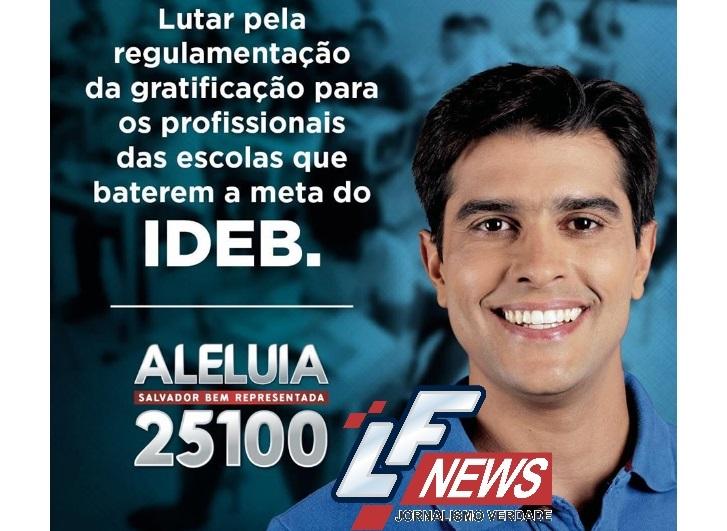 Alexandre Aleluia lutará por gratificação para os profissionais das escolas
