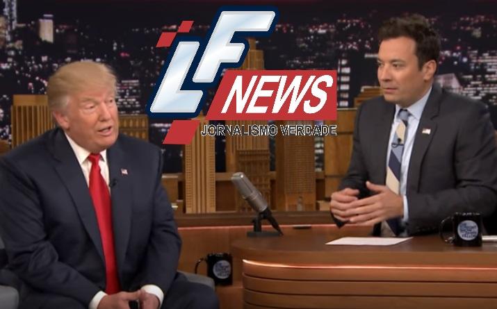 Apresentador bagunça cabelo de Trump para descobrir se magnata usa peruca