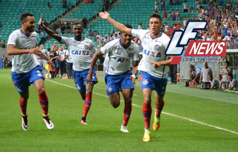 Bahia goleia o Goiás na Fonte Nova e entra no G4