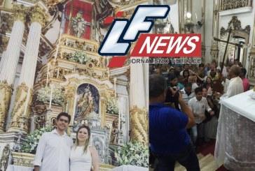 Candidato Alexandre Aleluia (DEM) esteve com sua esposa na Colina Sagrada nesta última sexta-feira do mês