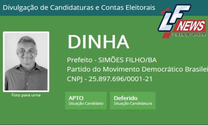 Futuro prefeito de Simões Filho, Dinha tem candidatura aprovada pela Justiça Eleitoral