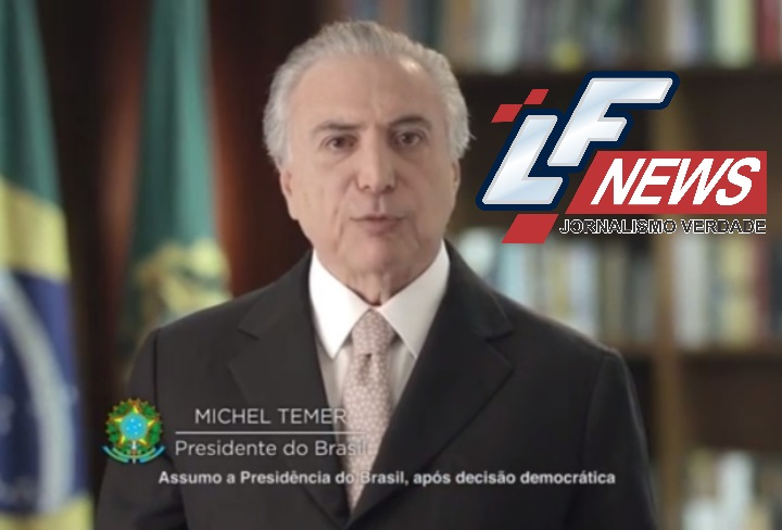 """Na TV, Temer cita reformas e que vai """"recolocar o Brasil nos trilhos"""""""