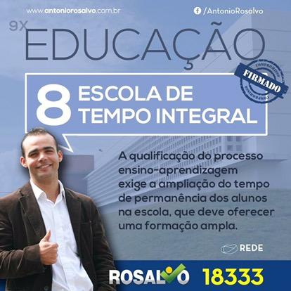 Vereador Rosalvo defende e luta por escola em tempo integral