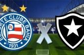 Com moral, Bahia enfrenta o Botafogo no Engenhão. Partida será às 19h