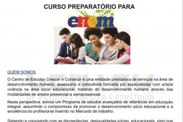Curso gratuito preparatório para o Enem em Lauro de Freitas. Saiba como participar