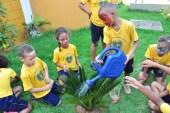 Crianças da LBV participam de ação ambiental no Parque Ecológico de Vilas do Atlântico