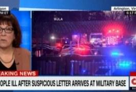 Três pessoas são internadas após abrirem carta em base militar dos EUA