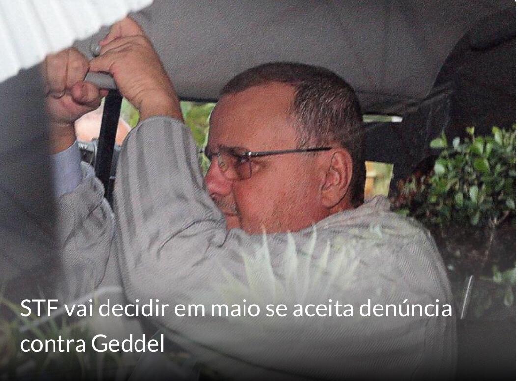 Geddel é flagrado na Papuda com remédios sem autorização