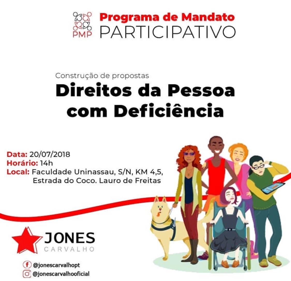 Jones Carvalho inicia Programa de Mandato Participativo. Participe!