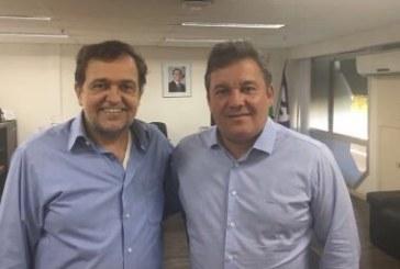 Secretário de Educação do estado discute Seminário de Integração de Redes e Tecnologia com Mauro Cardim