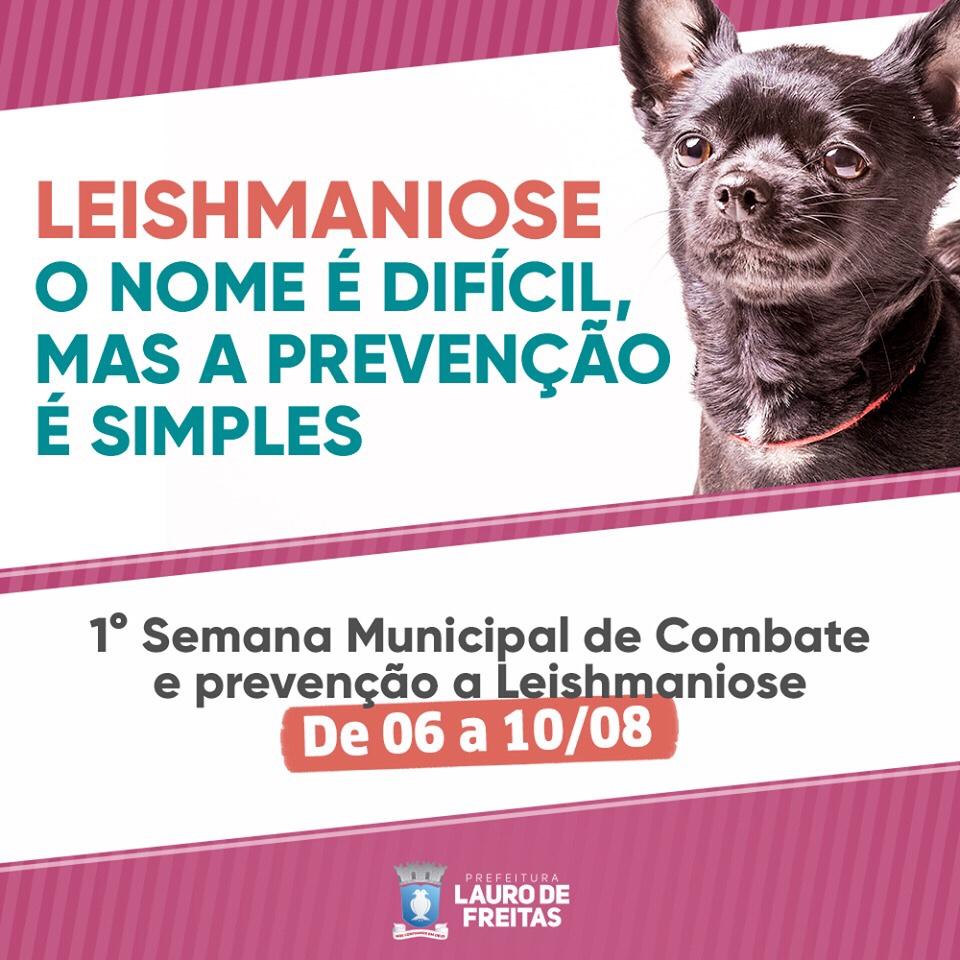 Prefeitura promove Semana de Prevenção e Controle da Leishmaniose Visceral